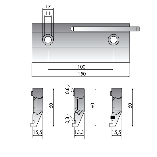 Clamping tools for press brake machine